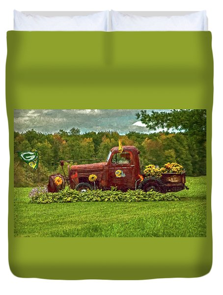 Packers Plow Duvet Cover by Trey Foerster