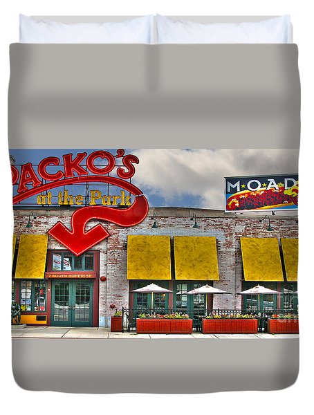 Packo's At The Park Duvet Cover