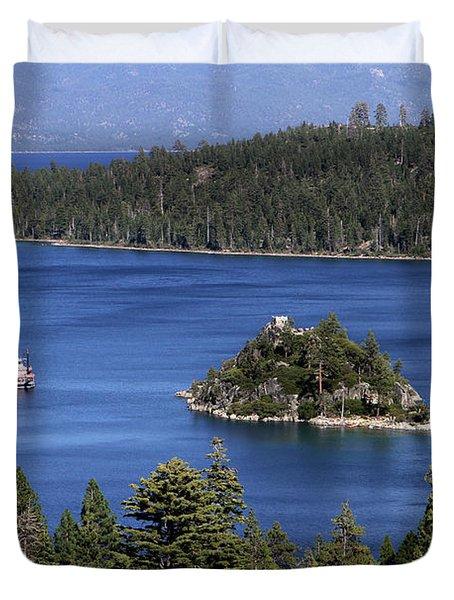 Paddle Boat Emerald Bay Lake Tahoe California Duvet Cover
