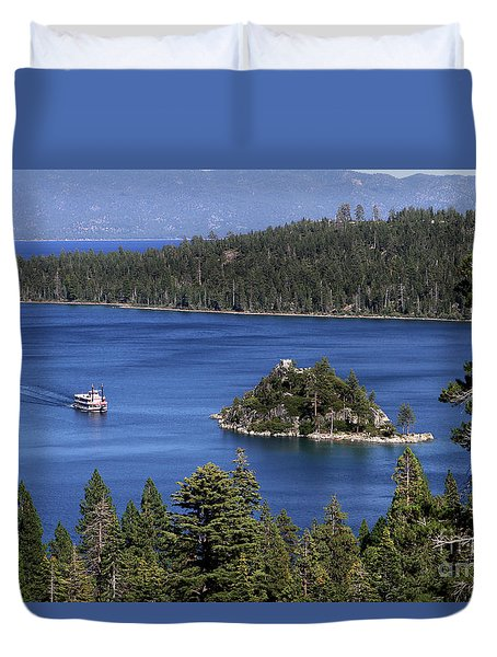 Paddle Boat Emerald Bay Lake Tahoe California Duvet Cover