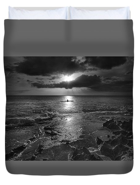 Paddle To The Sun Duvet Cover
