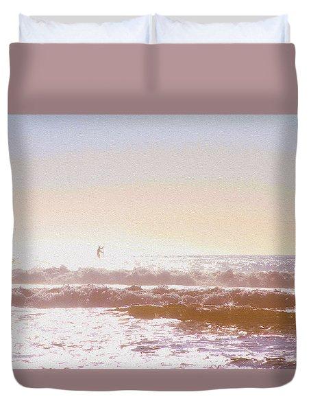 Paddleboarders Duvet Cover