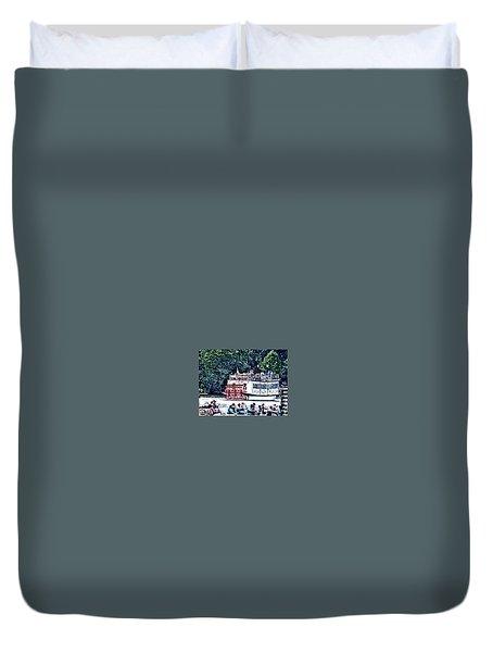Paddleboat Duvet Cover