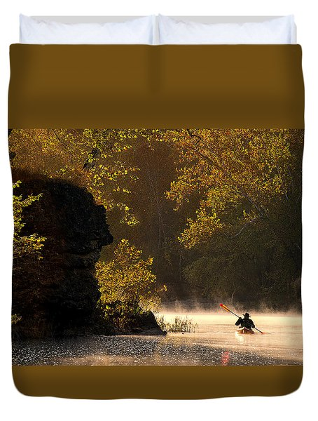 Paddling In Autumn Duvet Cover