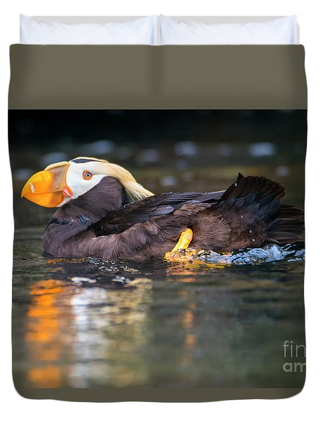Paddling Puffin Duvet Cover