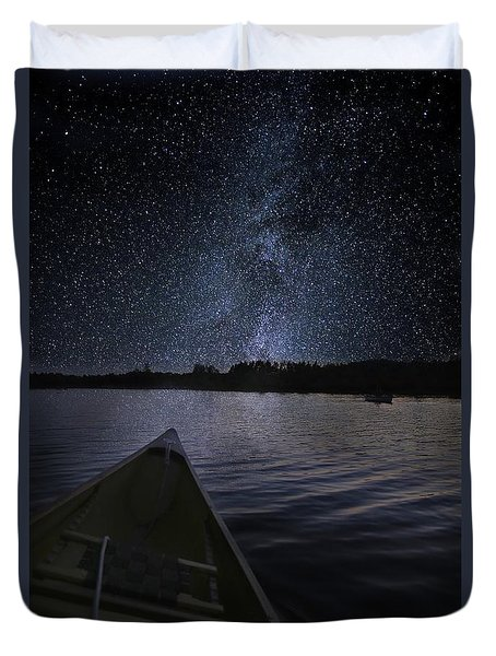 Paddling The Milky Way Duvet Cover