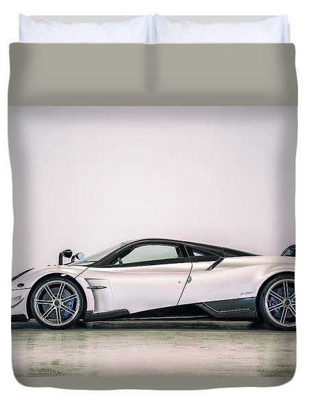 Duvet Cover featuring the photograph #pagani #huayra Bc by ItzKirb Photography