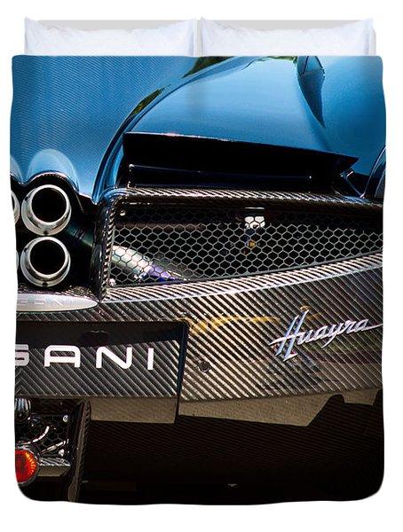 Pagani Huayra Black Duvet Cover