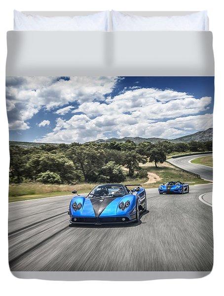 Pagani Zonda Hh And Koenigsegg Agera Hh Duvet Cover