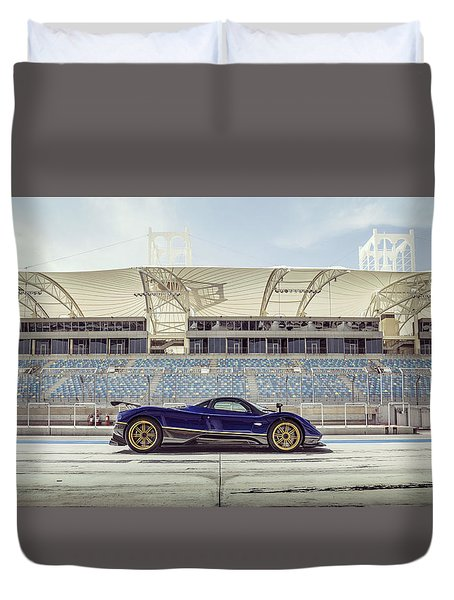 Pagani Zonda In Bahrain Duvet Cover