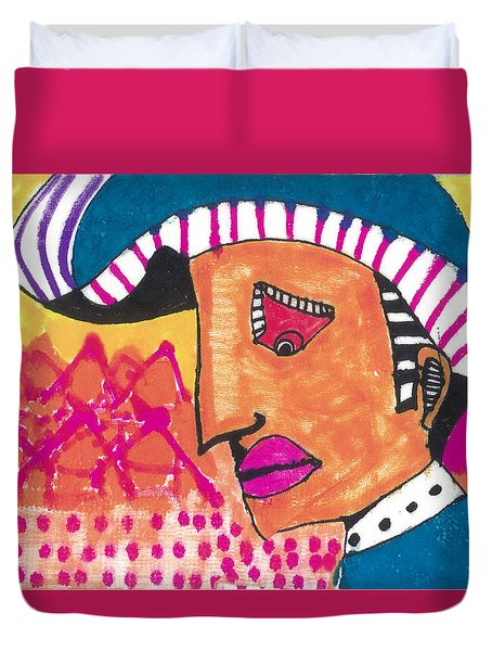 Duvet Cover featuring the painting Pagliacci Tuscany by Don Koester