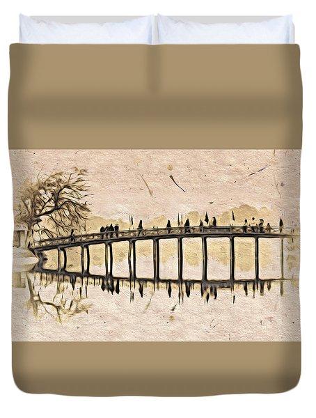 Pagoda Bridge Duvet Cover