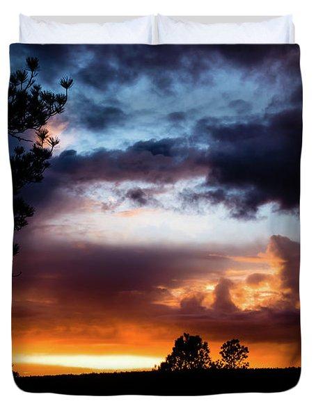 Pagosa Sunset 11-20-2014 Duvet Cover