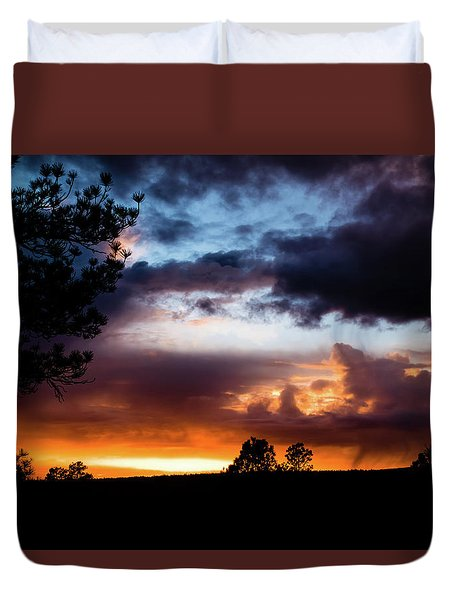 Pagosa Sunset 11-20-2014 Duvet Cover