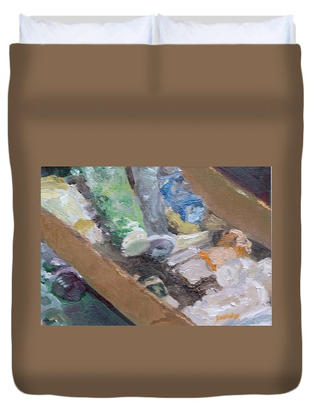 Paint Box Duvet Cover by Alicia Drakiotes