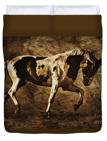 Paint Horse Duvet Cover