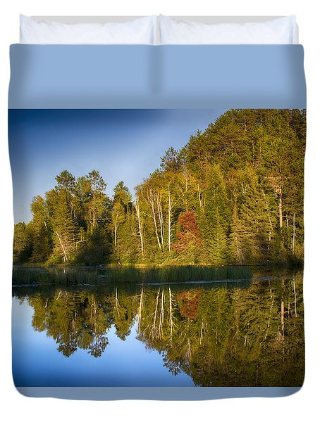 Paint River Duvet Cover