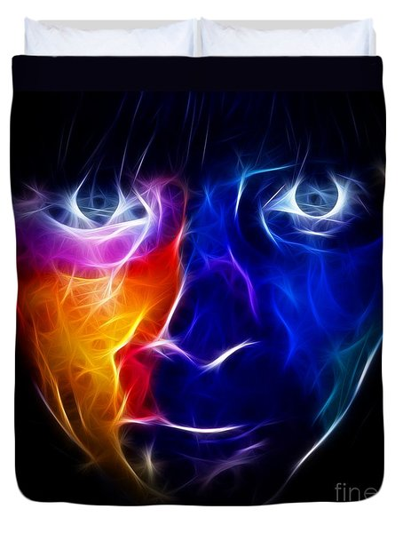 Paint Runs In My Blood Duvet Cover by Pamela Johnson