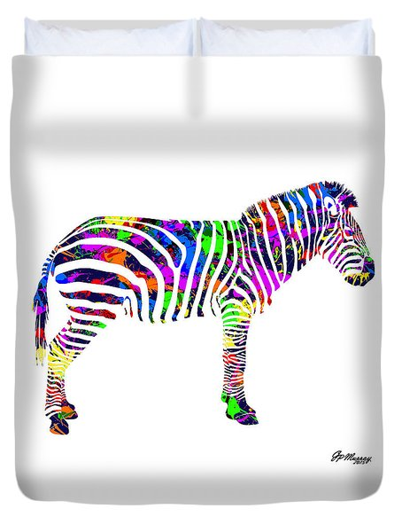 Paint Splatter Zebra Duvet Cover