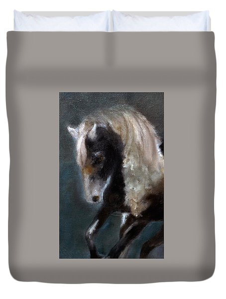 Duvet Cover featuring the painting Paint Stallion I by Barbie Batson