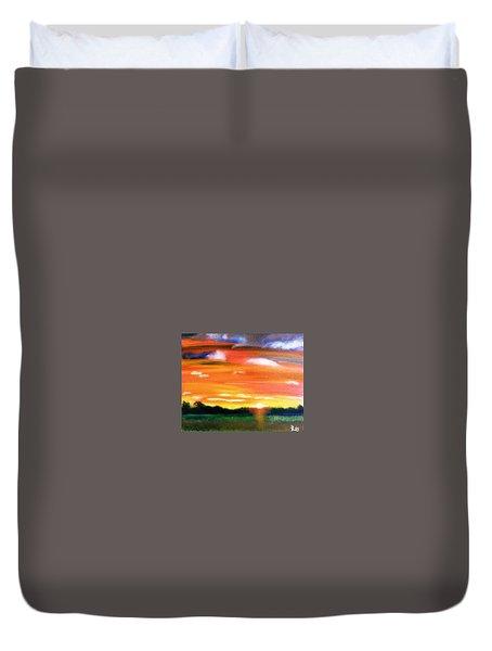 Paint The Sky Duvet Cover by  Debbie