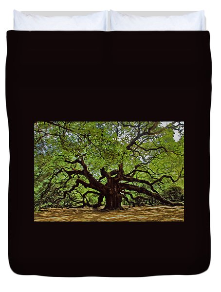 Painted Angle Tree Duvet Cover