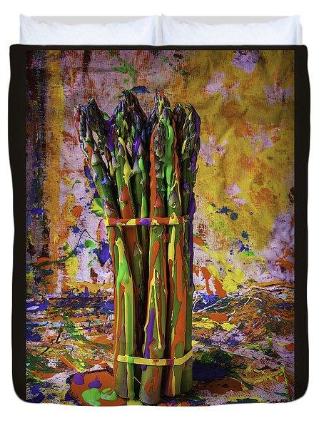 Painted Asparagus Duvet Cover
