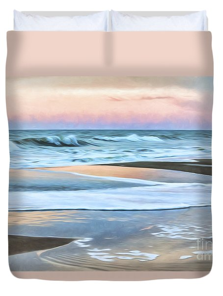 Painted Beach Sunset Duvet Cover