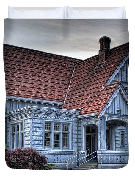 Painted Blue House Duvet Cover