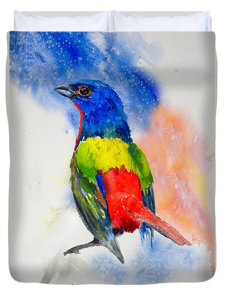 Da189 Painted Bunting Daniel Adams Duvet Cover