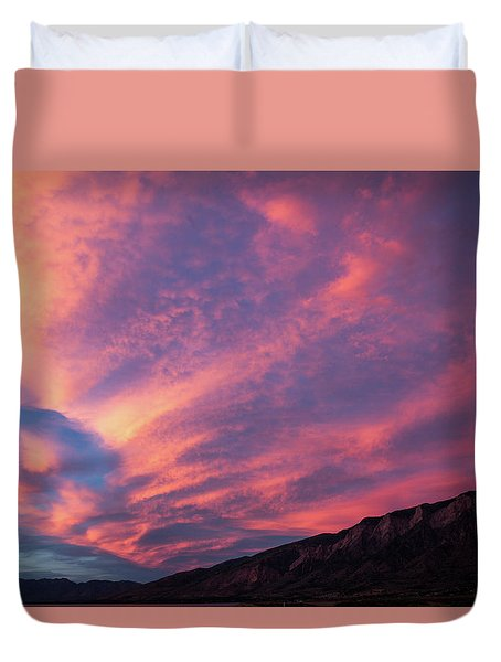 painted by Sun Duvet Cover