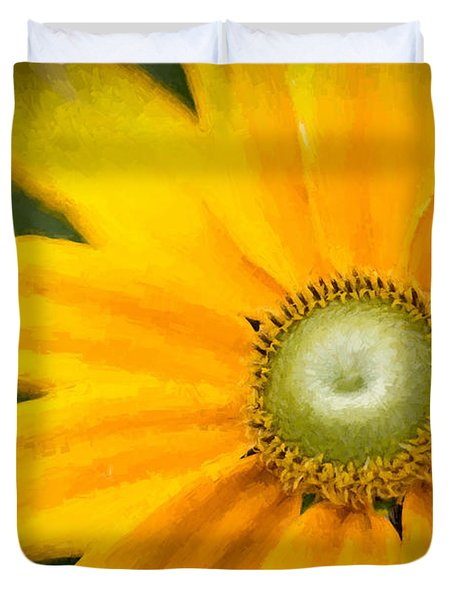 Duvet Cover featuring the photograph Painted Daisy by Cathy Donohoue