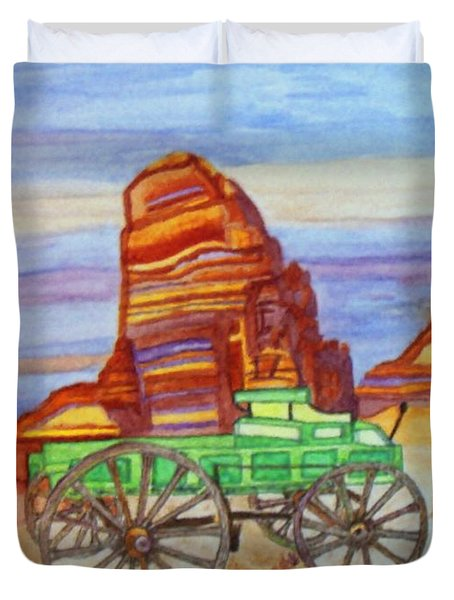 Painted Desert Duvet Cover by Connie Valasco
