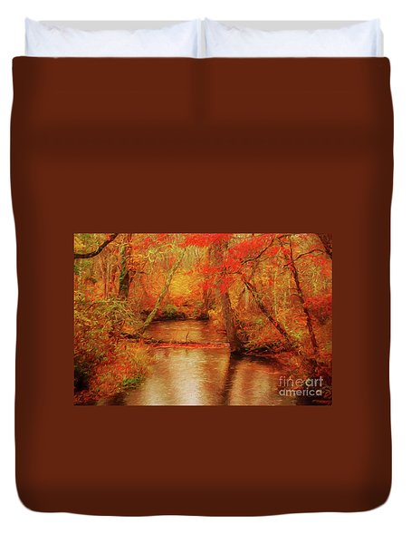 Painted Fall Duvet Cover by Geraldine DeBoer