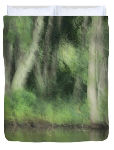 Painted Forest  Duvet Cover by Karol Livote
