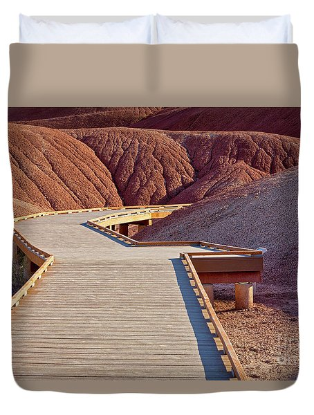 Painted Hills Boardwalk Duvet Cover by Jerry Fornarotto