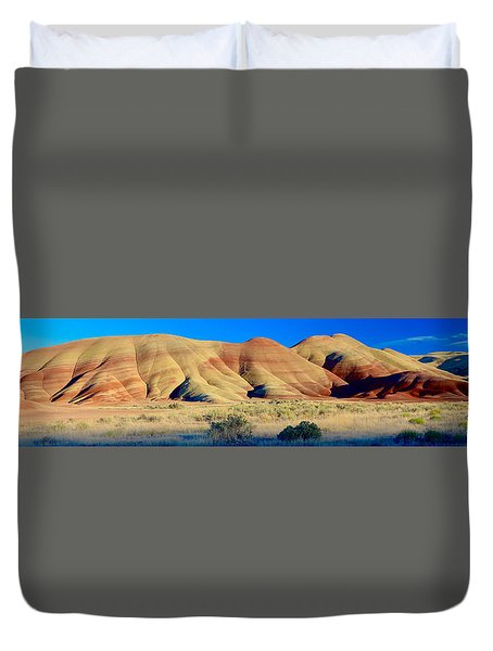 Painted Hills Extreme Pano  Duvet Cover