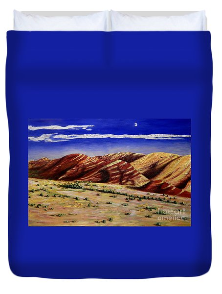 Painted Hills Duvet Cover by Lisa Rose Musselwhite
