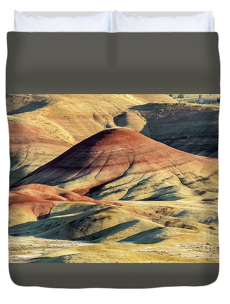 Painted Hills, Oregon Duvet Cover by Jerry Fornarotto