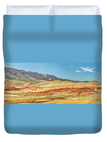 Painted Hills Pano 2 Duvet Cover by Jerry Fornarotto