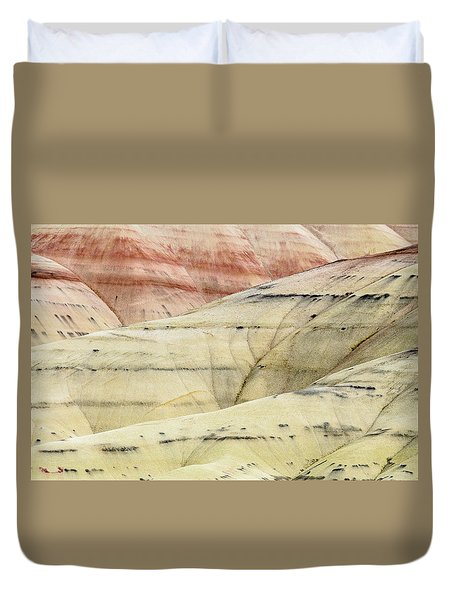 Duvet Cover featuring the photograph Painted Hills Ridge by Greg Nyquist