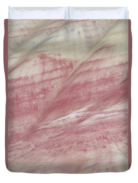 Duvet Cover featuring the photograph Painted Hills Textures 1 by Leland D Howard
