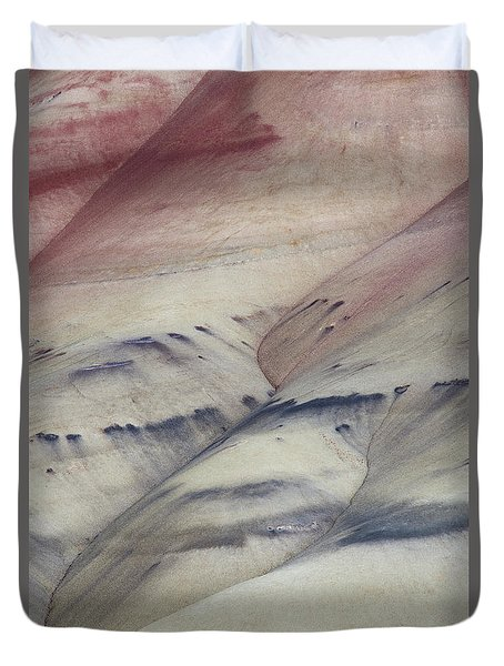 Duvet Cover featuring the photograph Painted Hills Textures 2 by Leland D Howard