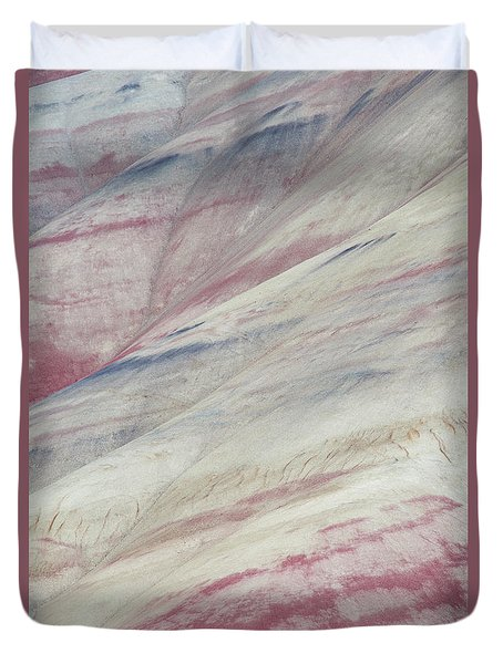 Duvet Cover featuring the photograph Painted Hills Textures 3 by Leland D Howard