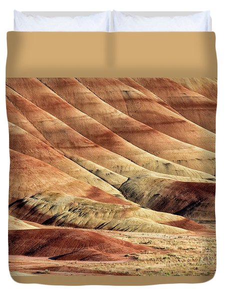 Painted Hills Textures Duvet Cover by Jerry Fornarotto
