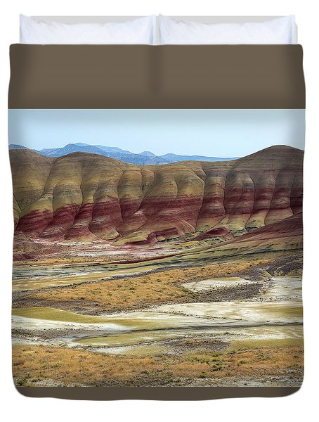 Painted Hills View From Overlook Duvet Cover