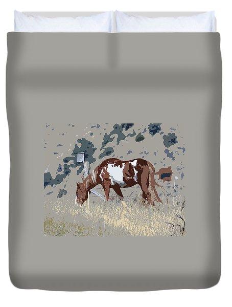 Painted Horse Duvet Cover by Steve McKinzie