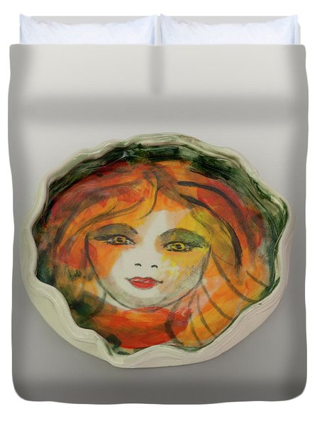 Painted Lady-1 Duvet Cover