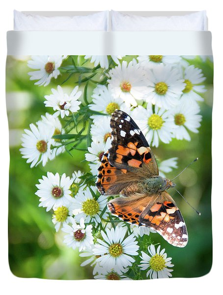 Painted Lady Butterfly Duvet Cover