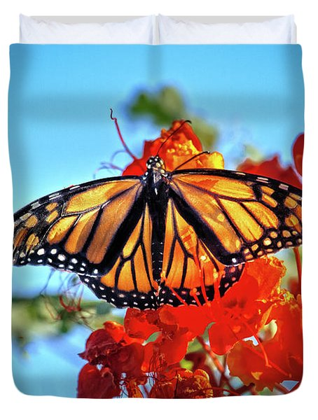 Duvet Cover featuring the photograph Painted Lady by Robert Bales